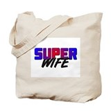 SUPER WIFE Tote Bag