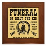 Billy's Funeral Framed Tile