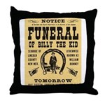 Billy's Funeral Throw Pillow