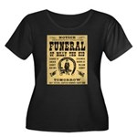 Billy's Funeral Women's Plus Size Scoop Neck Dark