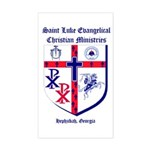 St. Luke's Window Rectangle Sticker