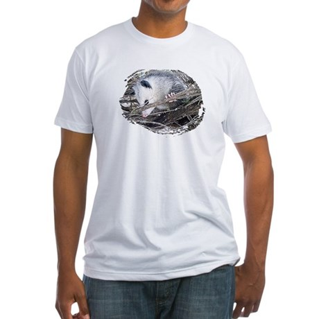 Peek-a-Boo Possum Fitted T-Shirt