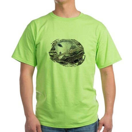 Peek-a-Boo Possum Green T-Shirt