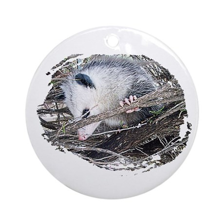 Peek-a-Boo Possum Ornament (Round)