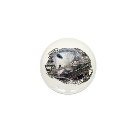 Peek-a-Boo Possum Mini Button (100 pack)