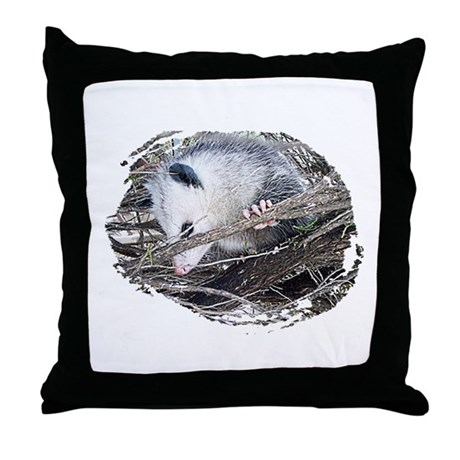 Peek-a-Boo Possum Throw Pillow