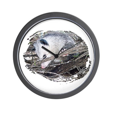 Peek-a-Boo Possum Wall Clock