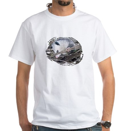 Peek-a-Boo Possum White T-Shirt