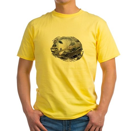 Peek-a-Boo Possum Yellow T-Shirt
