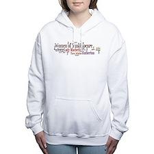 Funny William shakespeare Women's Hooded Sweatshirt