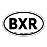 "Boxer Dog Breed Oval ""BXR"" Decal"
