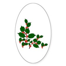 Holly Oval Decal