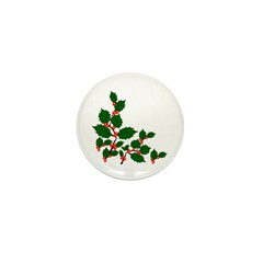 Holly Mini Button (100 pack)