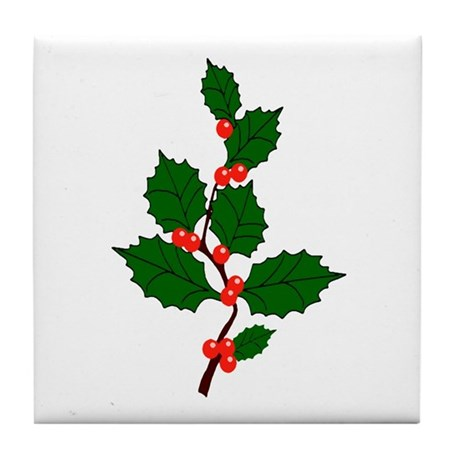 Holly Tile Coaster