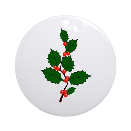 Holly Ornament (Round)