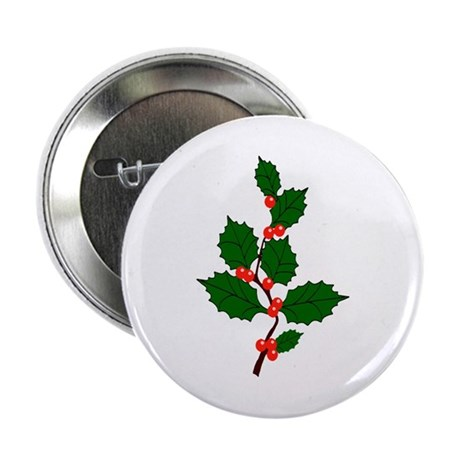 "Holly 2.25"" Button (10 pack)"