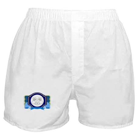 Blue Moon Face Boxer Shorts