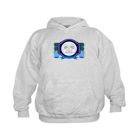 Blue Moon Face Kids Hoodie