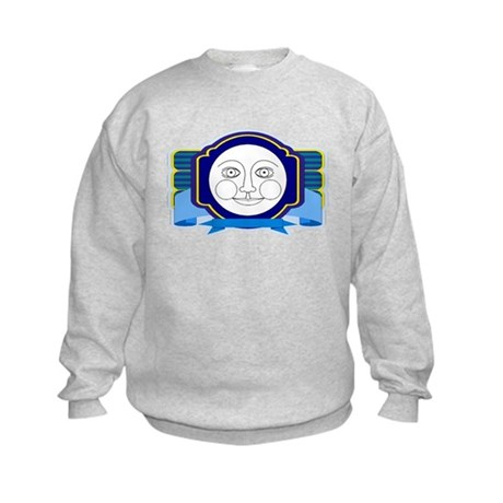 Blue Moon Face Kids Sweatshirt