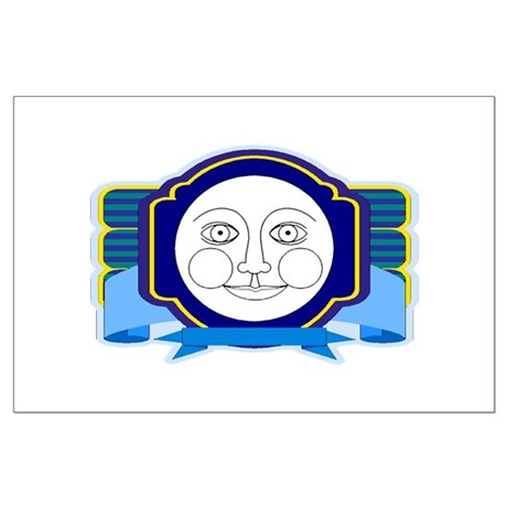 Blue Moon Face Large Poster