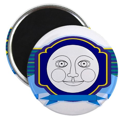 Blue Moon Face 2.25&quot; Magnet (10 pack)