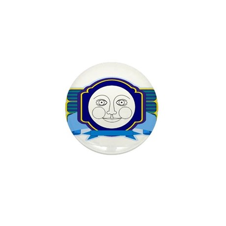 Blue Moon Face Mini Button