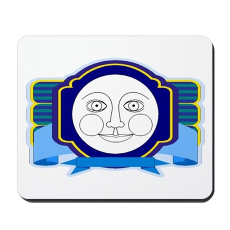 Blue Moon Face Mousepad