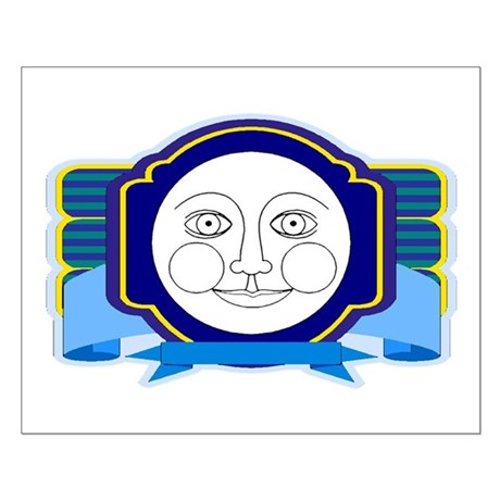 Blue Moon Face Small Poster