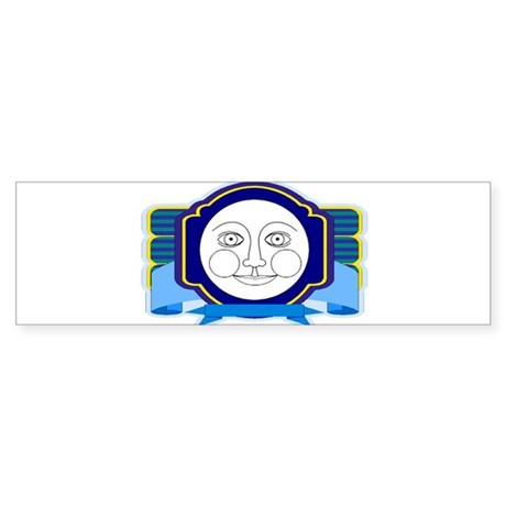 Blue Moon Face Bumper Sticker