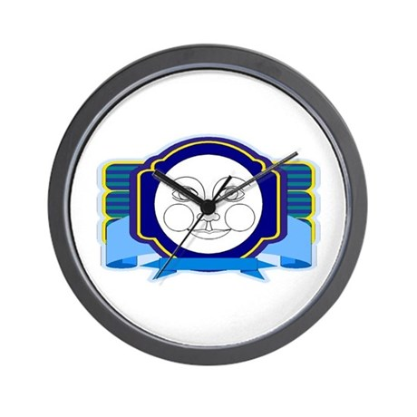 Blue Moon Face Wall Clock