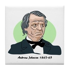 Andrew Johnson Tile Coaster