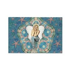 Sand Dollar Angel Rectangle Magnet