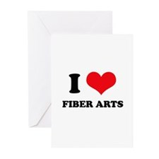 I Love (Heart) Fiber Arts Greeting Cards (Package