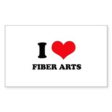 I Love (Heart) Fiber Arts Rectangle Decal