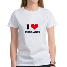 I Love (Heart) Fiber Arts Tee