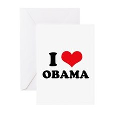 I Love (Heart) Obama Greeting Cards (Pk of 10)