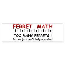 """""""Ferret Math"""" Bumper Car Sticker"""
