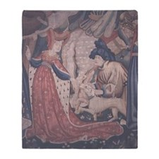 Devonshire Hunting Tapestry, Flemish Throw Blanket
