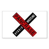 PANCRASE Original Logo Rectangle Decal