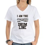 Quad Drummer Women's V-Neck T-Shirt
