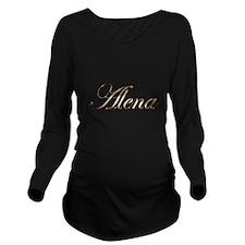 Gold Alena Long Sleeve Maternity T-Shirt
