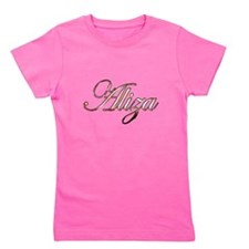 Gold Aliza Girl's Tee