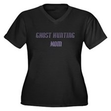 Ghost Hunting Mom Women's Plus Size V-Neck Dark T-