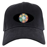 Holographic Awareness Icon, black baseball cap