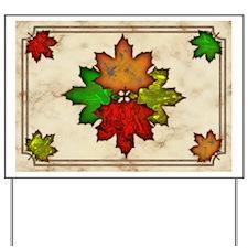 Fall Leaves Yard Sign
