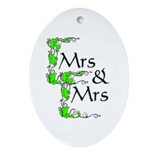 Mrs and Mrs Oval Ornament