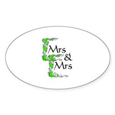 Mrs and Mrs Oval Decal
