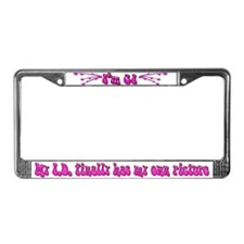 21st Birthday Pink License Plate Frame