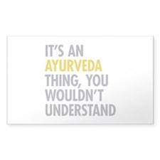 Its An Ayurveda Thing Decal