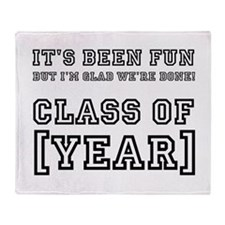 Graduation Year Personalize It! Throw Blanket